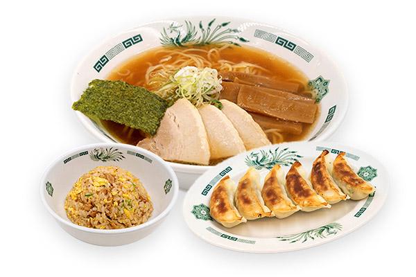 半チャーハン+餃子セット(中華そば)